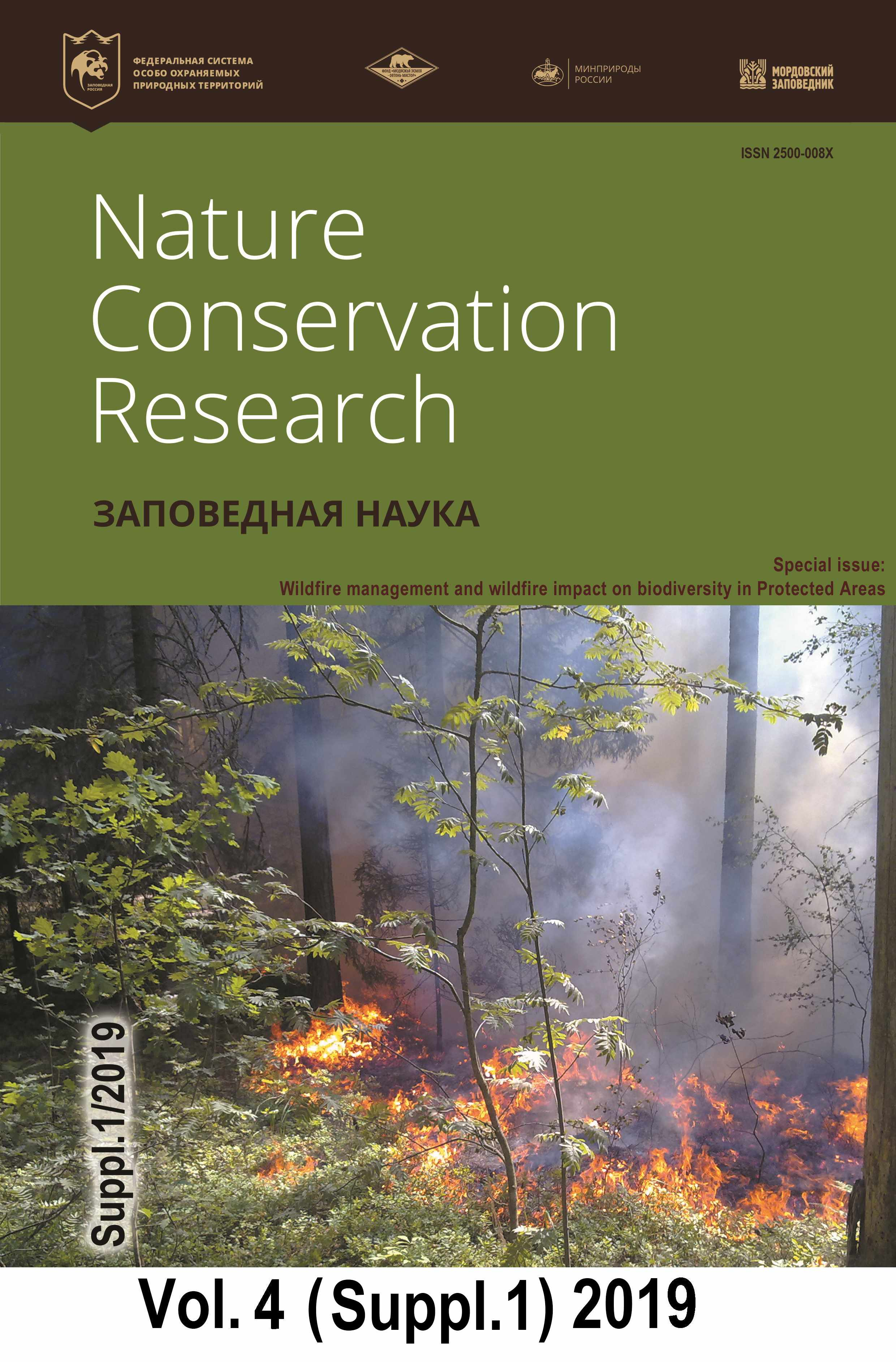 Volumes And Issues Of The Journal Nature Conservation Research